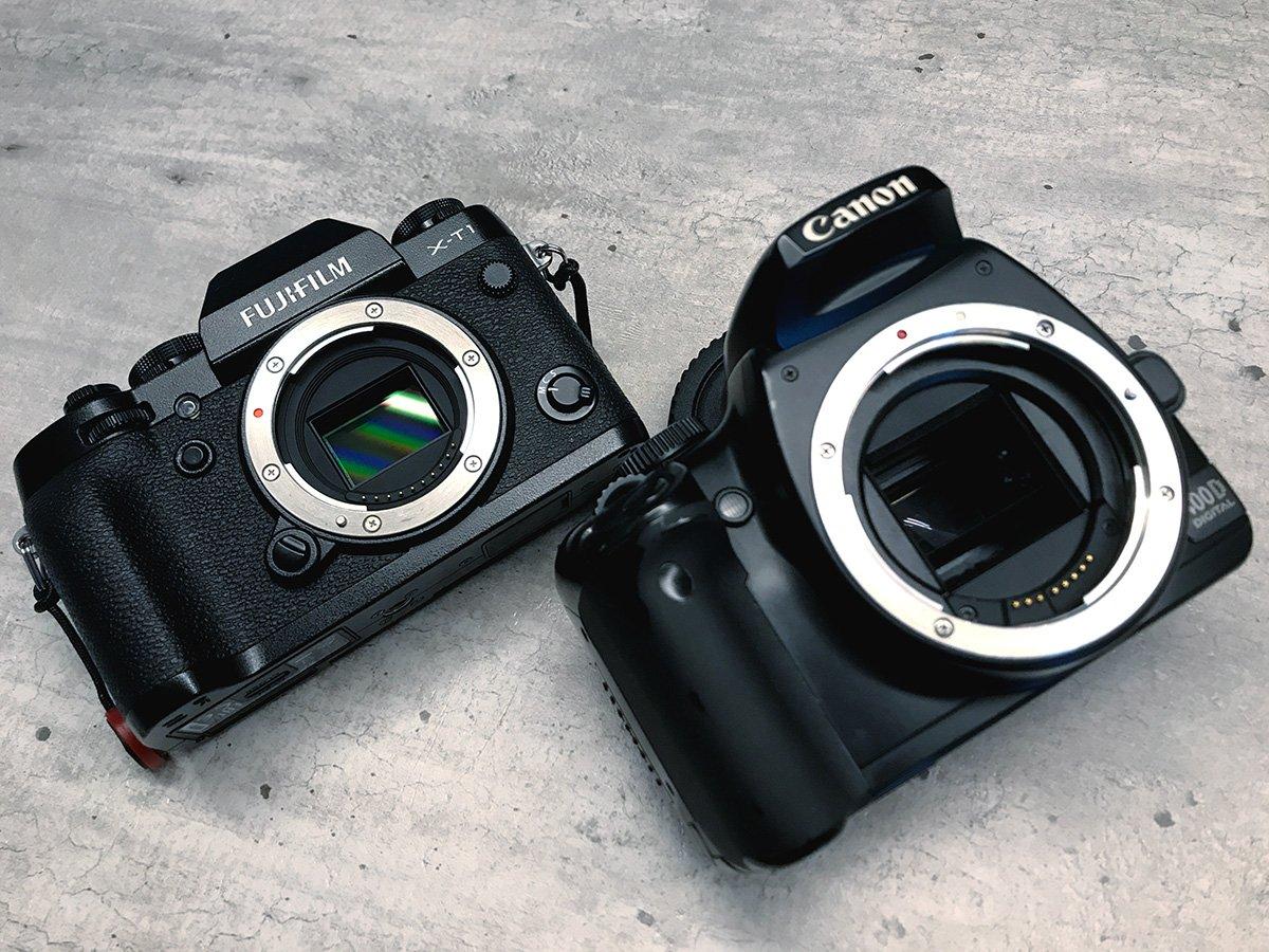 fuji xt1 canon 400d comparison dslr vs mirrorless